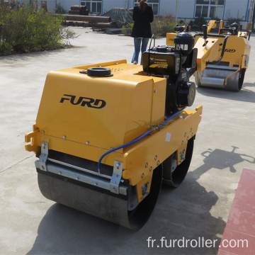 550kg Mini Vibratory Manual Ground Roller With Double Drums Vibrating
