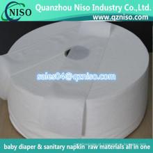 A matéria prima de papel airlaid a mais nova 2016 para o guardanapo sanitário e o bebê fralda