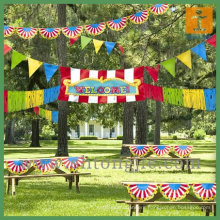 Outdoor hanging country flag and string flag