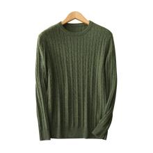 Chandails de pull pour hommes pur tricot de cachemire O-cou manches longues couleur unie pulls épais