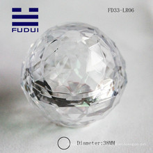 2015 transparent Kristall Acryl 38mm eos Ball Form Lippenbalsam Rohr Verpackung