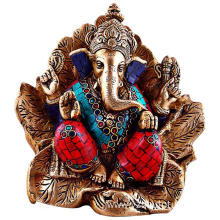 Colorful Bronze Ganesh Statue for Sale