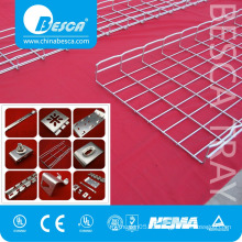 Galvanized Steel HDG PC SS Wire Mesh Cable Tray Support with Cantilever Brackets with Cover with Connector