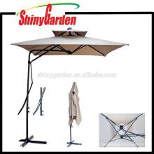 Side Pole Wind Resistant Square /Beach /Patio Double Layer Umbrella Wholesale