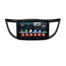 Fábrica Kaier, Quad core. Full Touch android 4.4 car dvd para Honda 2013 CRV + OEM + 1024 * 600 + mirrior link + TPMS