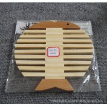Alfombra de bambú ecológica para vajilla y tazón