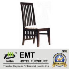 Creative Backrest Design Wooden Hotel Chair (EMT-HC82)