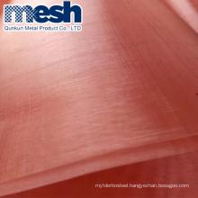Lowest Price Micron Copper Wire Mesh Faraday Cage Shielding Copper Wire Mesh
