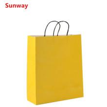 Yellow  kraft paper gift bags