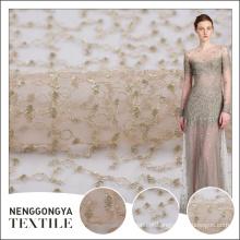 China atacado bonito bordado super tecido poli preço