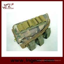 Escopeta Airsoft Tactical Rifle munición bolsa, mejilla almohadilla pistola bolsa Woodland Camo