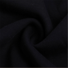 Comfortable Black Knitted Terry Sweater Fabric