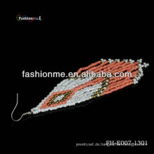 handgefertigte Ohrringe (Wassermelone roten Farbe)