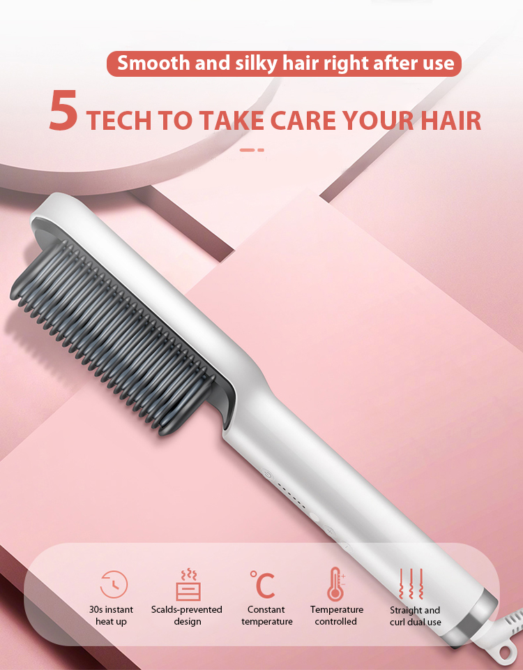 instyler hair straightener brush