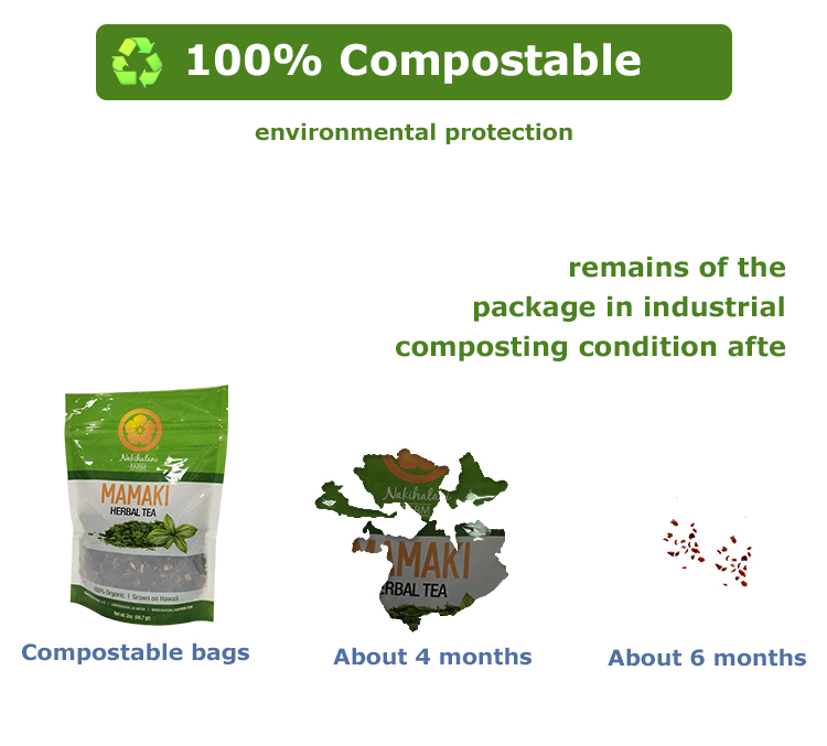 biodegradable tea packaging bag