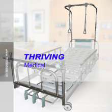 Cama de hospital ortopédica manual de la tracción de tres manivelas (THR-TB001)
