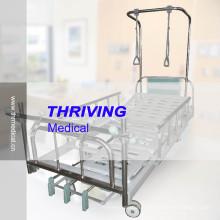 Lit d'hôpital de traction orthopédique manuelle à trois manivelles (THR-TB001)