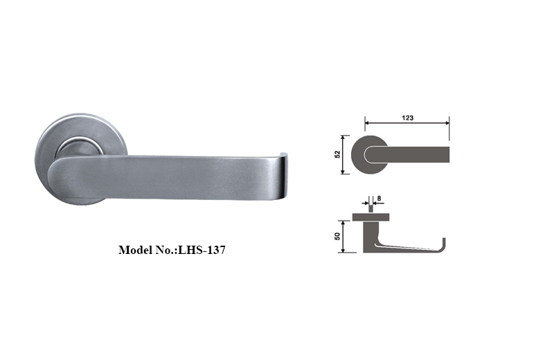 Attractive Design Solid Casting Door Lever Satin Finish