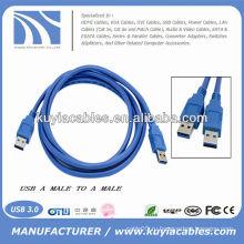 HIGH SPEED Blue AM TO AM между мужчинами 3.0 USB-кабель для передачи данных 1.8m 6ft