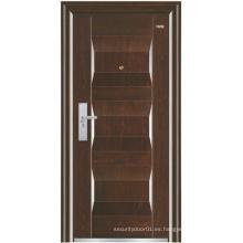 Puerta de acero de la puerta del color de la nuez