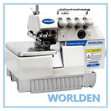 WD-747 4 hilos Industrial máquina de coser