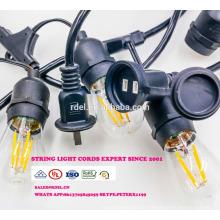 SL-32 gros noël pendentif chaîne décorative lumière E26 douille de lampe cordon d'alimentation ca avec interrupteur en ligne