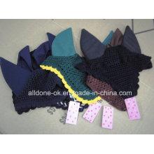 Custom Reiter Pferd Gear Fly Maske Schleier Bonnet Sattlery