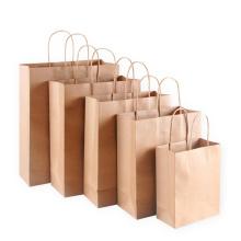 Принять нестандартный бумажный пакет с принтом из крафт-бумаги с ручкой Перерабатываемая бумажная сумка для покупок