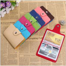 Мода PU кожа 24 слота бизнес кредитной карты бумажника