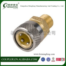 Hydraulic stainless steel quick coupler (G1/8 straight thru )