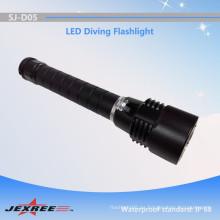 Jexree personalizó la linterna de buceo diseñada fuerza fuerte XM-L2 ocultó la antorcha de buceo llevada para buceo (2 * 18650)