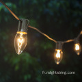 Ampoules incandescentes de Noël C9 Light String étanche