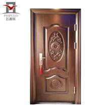 Puerta exterior de acero venta caliente para el mercado extranjero.