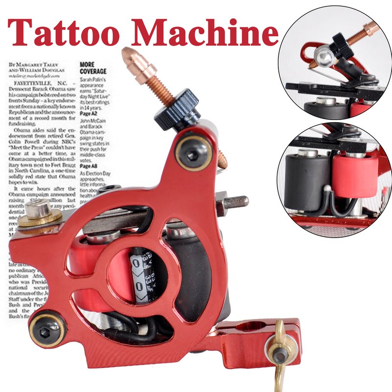 red tattoo gun
