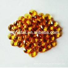 Venta al por mayor topacio tallado cuentas de octágono, cuentas de cristal