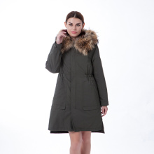 Army grön färg vinter outwear