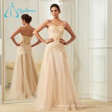 Crystal Sequined Beading Cheap Mature Custom Wedding Dress