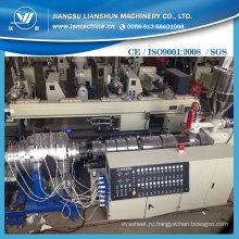 Китай Пластиковые ПВХ двухтрубный экструдер производственной линии / Гибкий ПВХ-экструдер для производства машины
