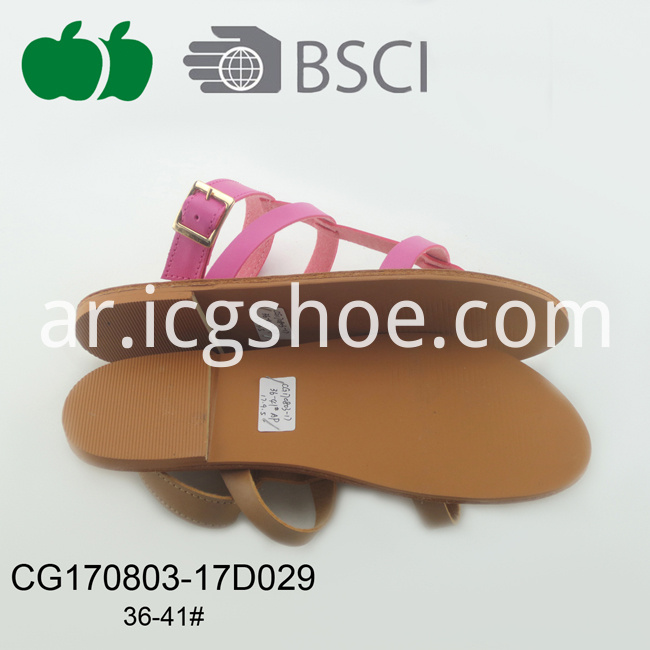 pu flat slipper