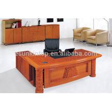 Design de mesa de gerente de escritório, mesa de escritório frontal, móveis de escritório de madeira