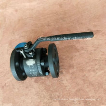 API602 150lb a forgé la vanne à bille d'extrémité de connexion de bride de l'acier A105