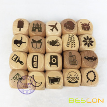 Custom Laser Engraved Big Wooden Dice