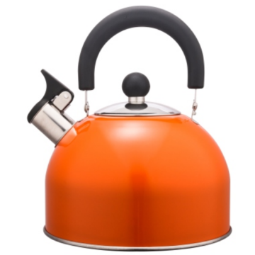 Lukisan warna 2.5L Stainless Steel Teakettle warna oranye