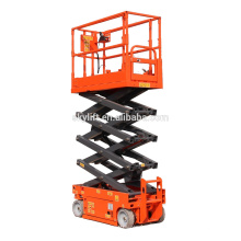 hydraulic self propelled scissor manual man lift for one person operate hot sale