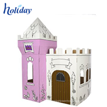 colorful printing cardboard kids playhouse furniture
