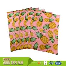 Adhesivo Personalizado 10X13 Pink Yellow Pineapple Diseñador Mailers Bolsa Envío Sobres Paquete de 50