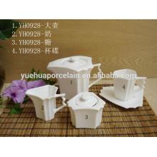 Оптовая тонкой керамической канистру чай кофе сахара набор кастрюли / кофе чай сахара набор