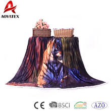 100% Polyester Super Soft Printed Micromink Decke mit Sherpa