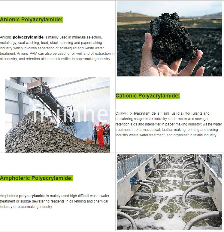 Cation PAM Polyacrylamide For Watertreatment