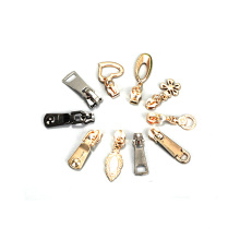 High quality handbag delicate golden zip slider zipper puller